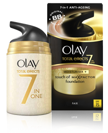 Olay Total Effects Daily Moisturizer + Touch of Max Factor Foundation